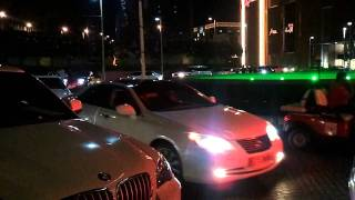 Beautiful cars outside Dubai Mall