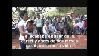 """Asesinato del dirigente campesino Benjamín Lezcano del asentamiento """"Arroyito""""  [Subtitulado]"""