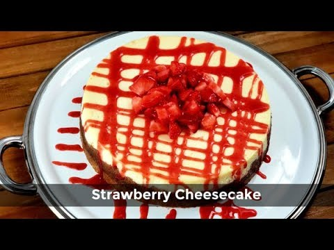 Strawberry Cheesecake Recipe | How To Make A New York Cheesecake | Amy Learns To Cook