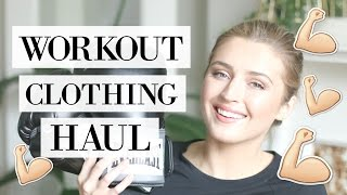 Athleisure + Workout Clothing Haul | allanaramaa thumbnail
