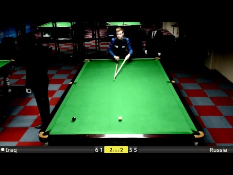 D2S2T3 Snooker World Team Cup Groups : Iraq vs Russia