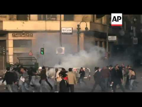 Tear gas fired at protesters rallying against government