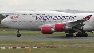 "Video Virgin Atlantic ""Pretty Woman"" 747-400 Aircraft departing Manchester airport with ATC G-VROY download MP3, 3GP, MP4, WEBM, AVI, FLV Juni 2018"