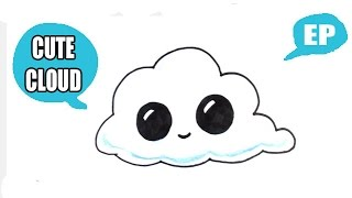 How to Draw a Cute Cloud - Easy Pictures to Draw
