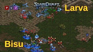 Bisu vs. Larva giving a master class in how to play Starcraft Remastered