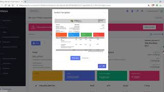Free accounting & billing software - change document template