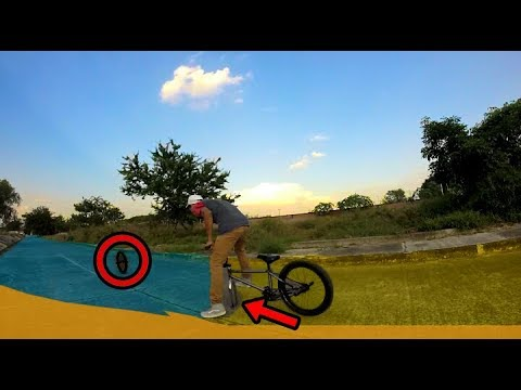 Montando BMX sin una RUEDA (*Termina mal*)