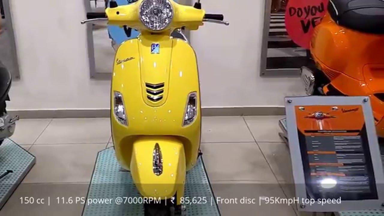 81607c81d87 Vespa VXL 150 yellow | price 85,625 Ex showroom | Walk around video -  YouTube