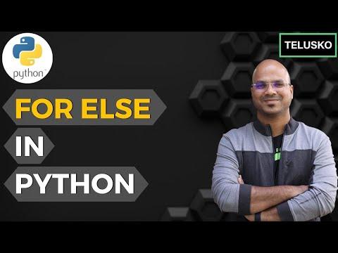 #24 Python Tutorial For Beginners | For Else In Python