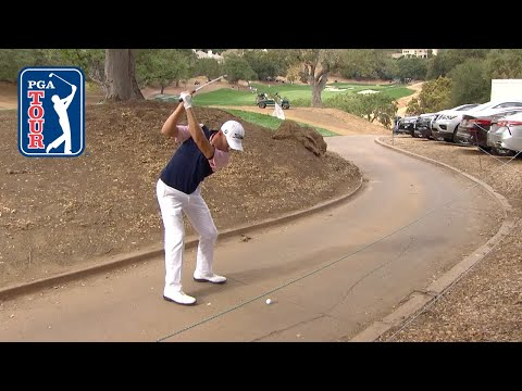 Justin Thomas saves par from the cart path at ZOZO CHAMPIONSHIP