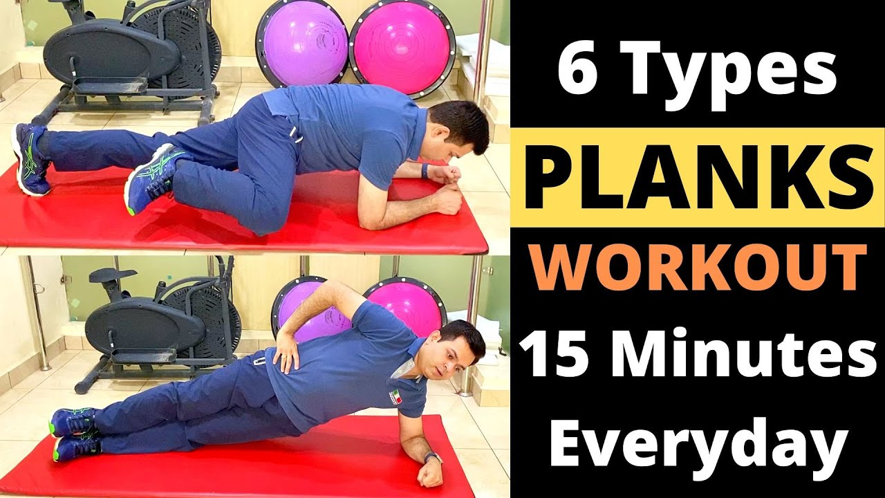 Total Plank Workout, 6 Variety of Plank Exercises, Plank Benefits, Plank for Abs, How to do Plank