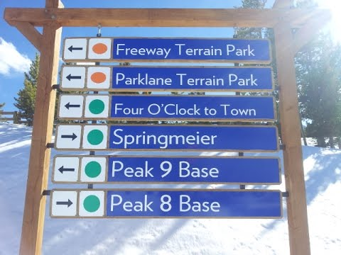 Breckenridge Mtn Tour: Top Of Chair 5 To Bottom Of Quicksilver (Beginner, Easiest Way Pk8 To Pk9 )