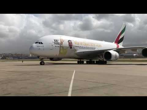 Jumboplane A380 Lands in Beirut for the First Time