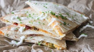 How To Make Jalapeños Popper Inspired Quesadillas - By One Kitchen Episode 617