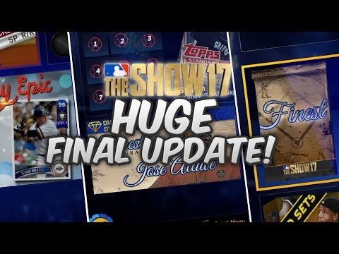 99 DIAMOND TROUT AND RYAN BRAUN! FINAL MLB THE SHOW 17 UPDATE! NEW FINEST PROGRAM