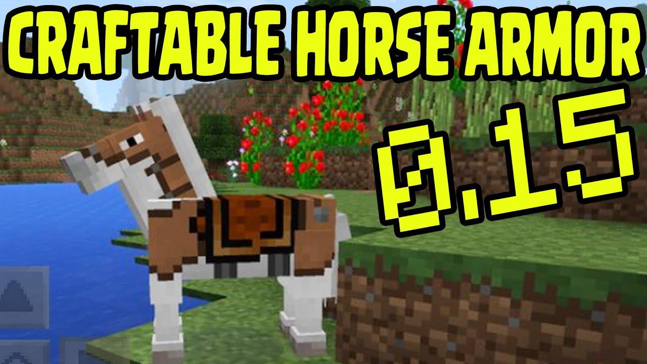 "Horse Armor Minecraft Recipe minecraft mcpe 0.15 ""craftable leather horse armor"" update release"