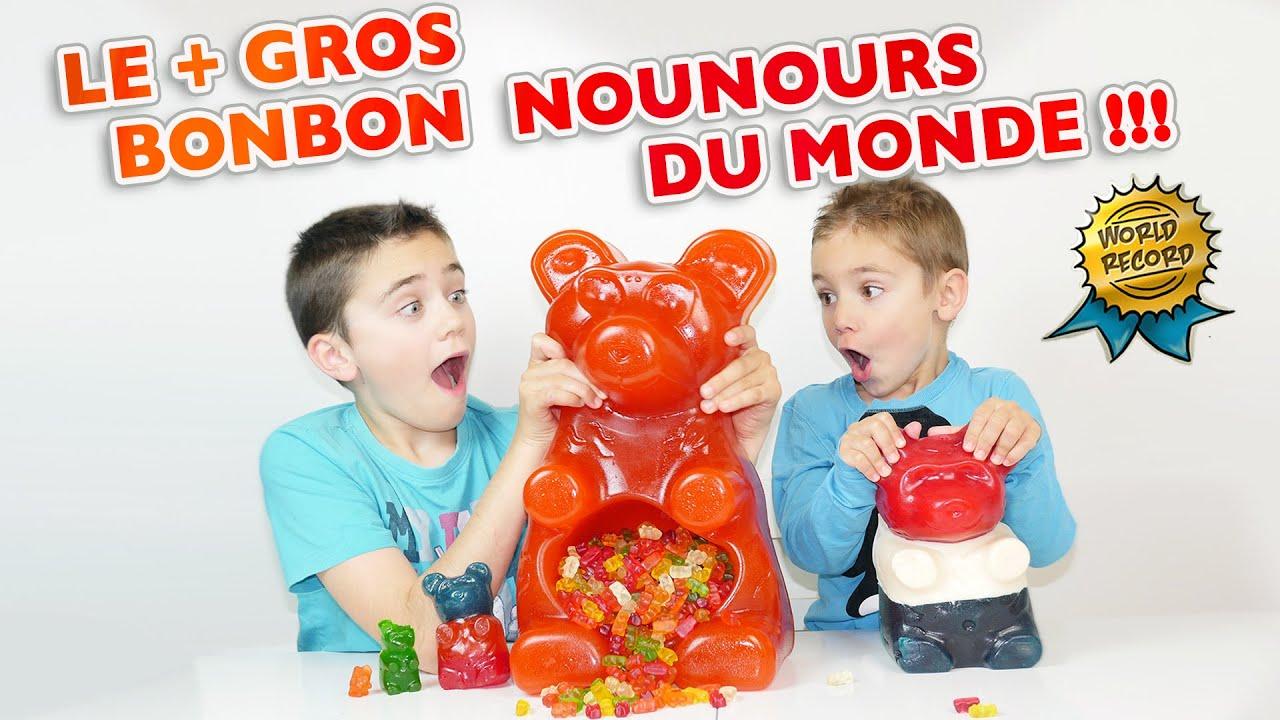 le plus gros bonbon nounours du monde world 39 s largest party gummy bear ever youtube. Black Bedroom Furniture Sets. Home Design Ideas