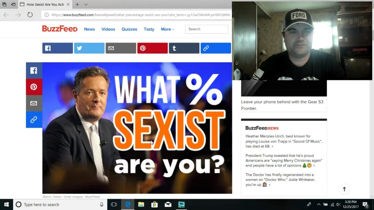 Buzzfeed: What % Sexist Am I?