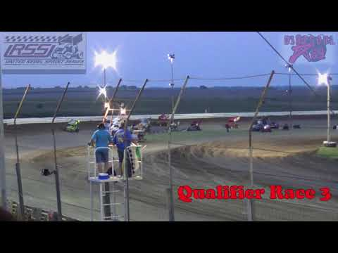 Belleville High Banks - Inaugural 305 Sprint Car Nationals - 8-4-18 - Qualifier Races 1-4