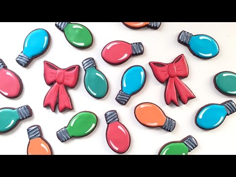 How To Decorate Christmas Light Cookies!