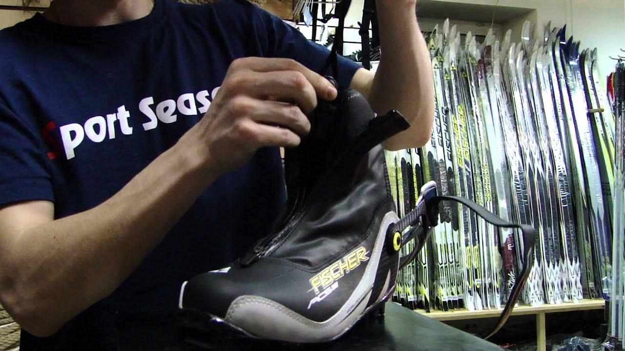Ботинки для беговых лыж Fischer XC Comfort Pro 37 Silver - YouTube
