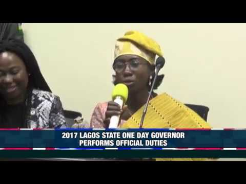 2017 LAGOS STATE ONE DAY GOVERNOR PERFORMS OFFICIAL DUTIES