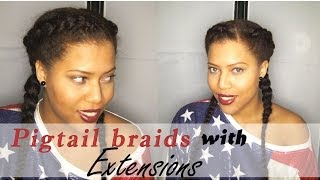 ❥ Pigtail braids with Extensions ❥