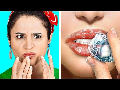 КРУТЫЕ БЬЮТИ-ЛАЙФХАКИ || Полезные хитрости с макияжем от 123 GO! GOLD