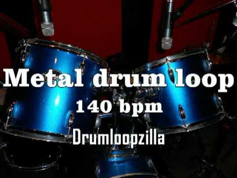 Metal drum loop #2 140 bpm