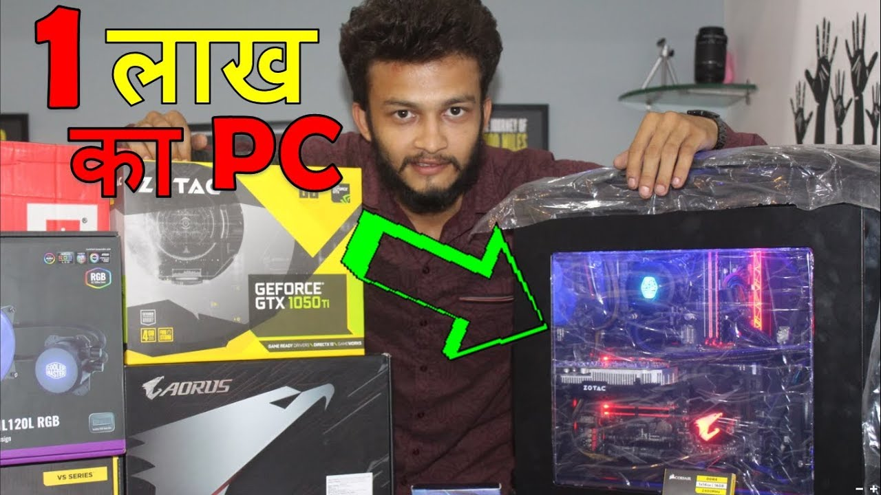 {HINDI}  Intel 8th Gen core i5 ULTIMATE RGB PC Build with liquid cooler    gaming pc build india