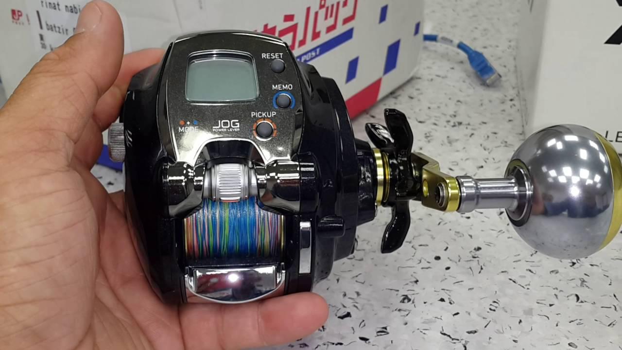 16c48528945 daiwa leobritz 300 מכונה חשמלית לים לגיג - YouTube