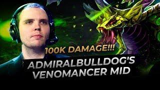 AdmiralBulldog plays Mid Venomancer -21k Comeback! | Dota Pub