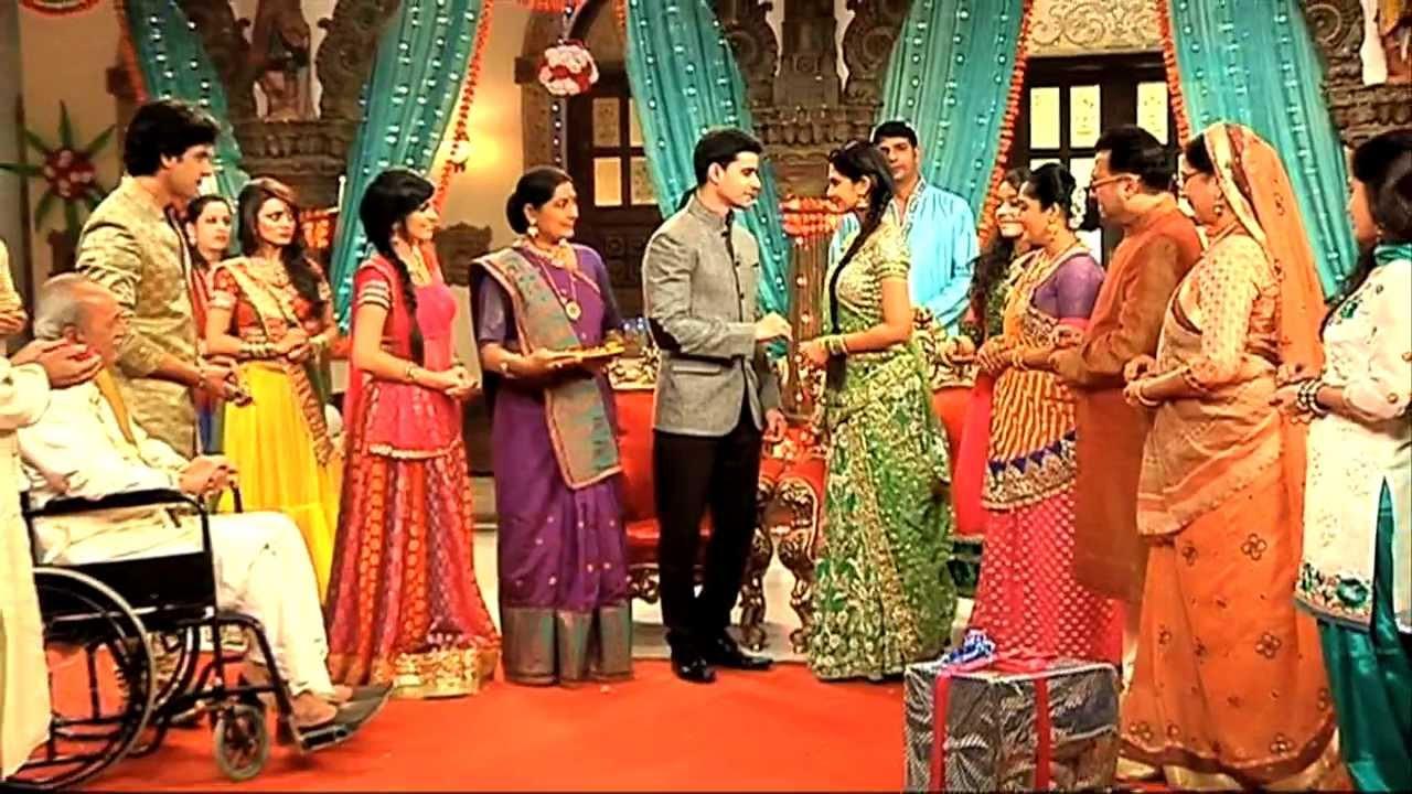 saras and kumuds engagement ceremony saraswatichandra