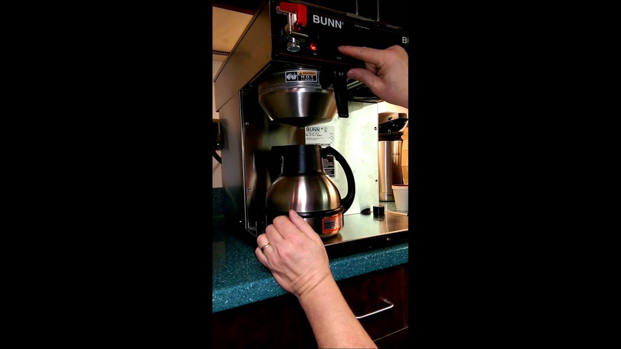 Bunn Coffee Adjusting Brew Volume Cwtf Twin Tc Youtube Cw Series Wire Diagram