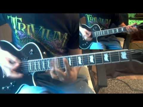 As I Lay Dying - Cauterize dual guitar cover (with solo)