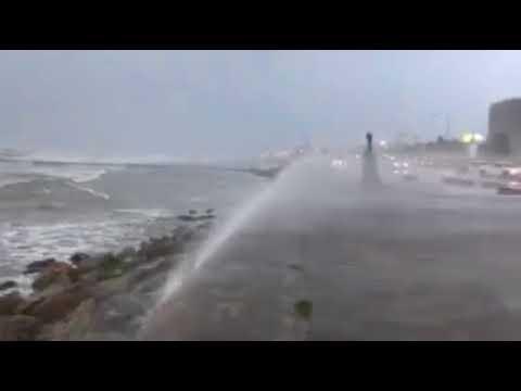 Hurricane #Harvey at Galveston Seawall #hurricaneharvey #galveston