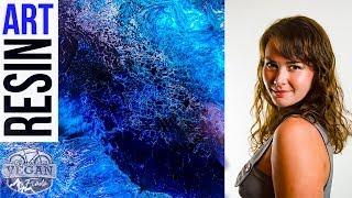 Barnes epoxy cast resin lacing effect , Liquitex ink, Pearl Ex powders, Resin art, Brisbane