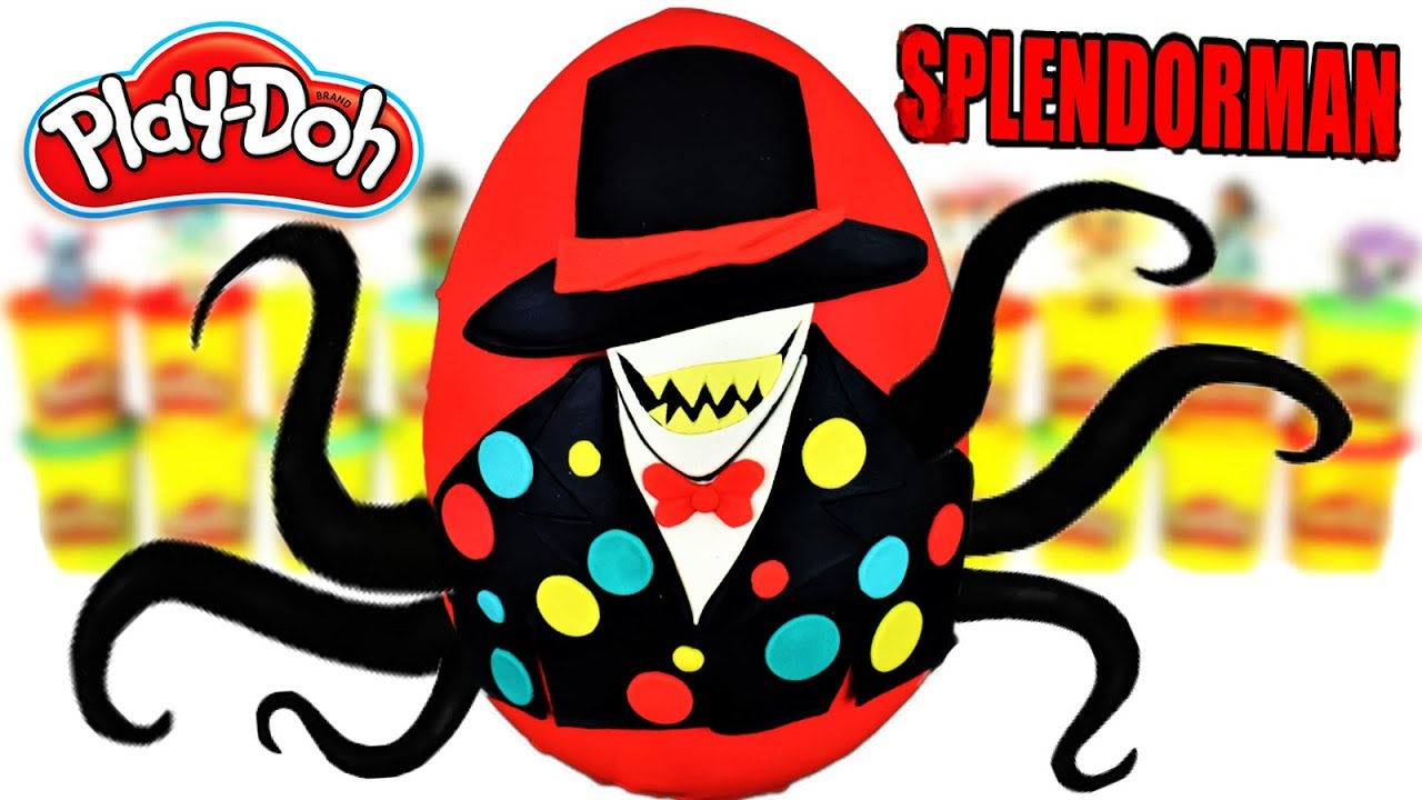 Huevo Sorpresa Gigante de Splendorman de Plastilina Play doh en Español HappyPasta