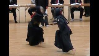 平成30年2月18日に行われた「第17回全日本短剣道大会」の個人戦、女子の...