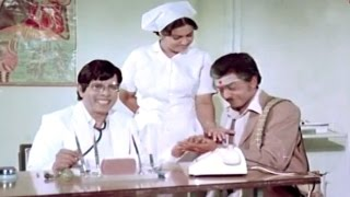Telugu Comedy Scenes - Nagesh Asking His Astrology In Hospital - Rama Prabha