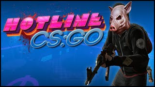 CS GO Gameplay - Hotline Coop Mission Map - Club Cyka, Hotline Miami Map & Computer Hacking!