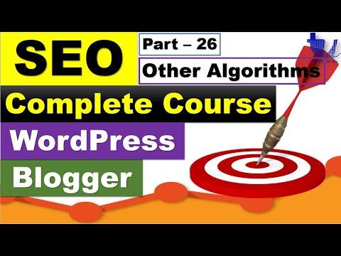 Complete SEO Course for WordPress & Blogger | Part 26 - Other Important Google Algorithms [Urdu/Hind