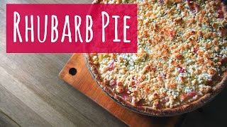 Rhubarb Pie Recipe  Super easy and vegan friendly!