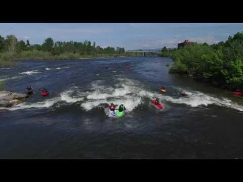 Kayaking In Caras Park Missoula Mt