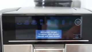 Siemens EQ.6 - Milchsystem reinigen mit milkClean