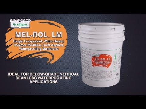 MEL-ROL LM Video - Fluid-Applied Waterproofing Membrane - W  R  Meadows