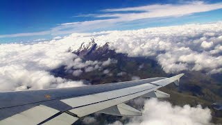 TAME Ecuador Airbus A320 TURBULENT TAKEOFF from Quito Airport | ✈