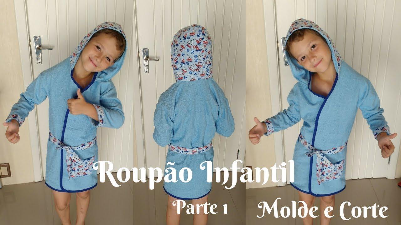 Roupão Infantil ~ Roup u00e3o Infantil Parte 1 YouTube