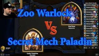 Secret Mech Paladin vs Zoo Warlock | Hearthstone