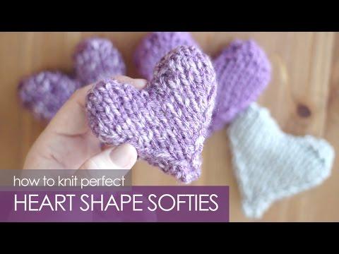 How To Knit A Heart Shape Puffy Heart Softies Youtube